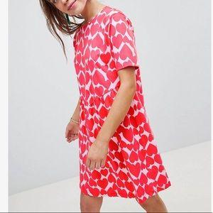 ASOS Smock Dress | Heart Print